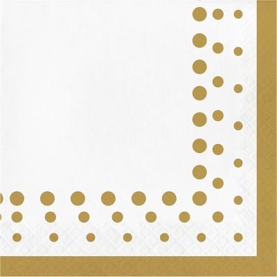 Sparkle and Shine Gold Napkins, 16 pk