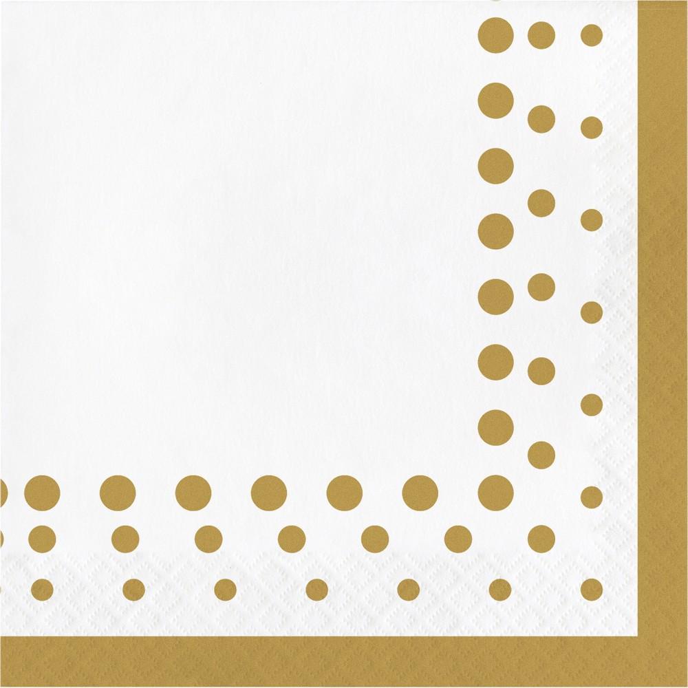Image of Sparkle and Shine Gold Napkins, 16 pk