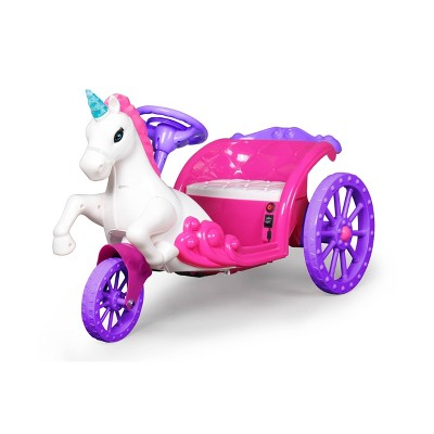 Best Ride on Cars 6V Unicorn Carriage Powered Ride-On - Pink