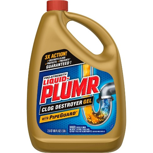 Liquid-Plumr Pro-Strength Full Clog Destroyer Plus PipeGuard - 80 fl oz - image 1 of 3