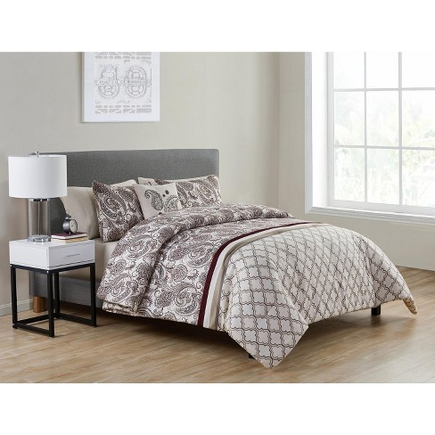 VCNY Home Georgie Burgundy Paisley Bed-in-a-Bag Comforter Set - image 1 of 4