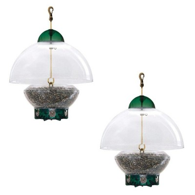 Droll Yankees Big Top Squirrel Proof Adjustable Dome Top Hanging Bird Feeder with 8 Feeding Ports and Easy to Clean Design, 3 Pounds (2 Pack)