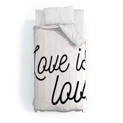 Eyesasdaggers Love is Love Polyester Comforter Set - Deny Designs