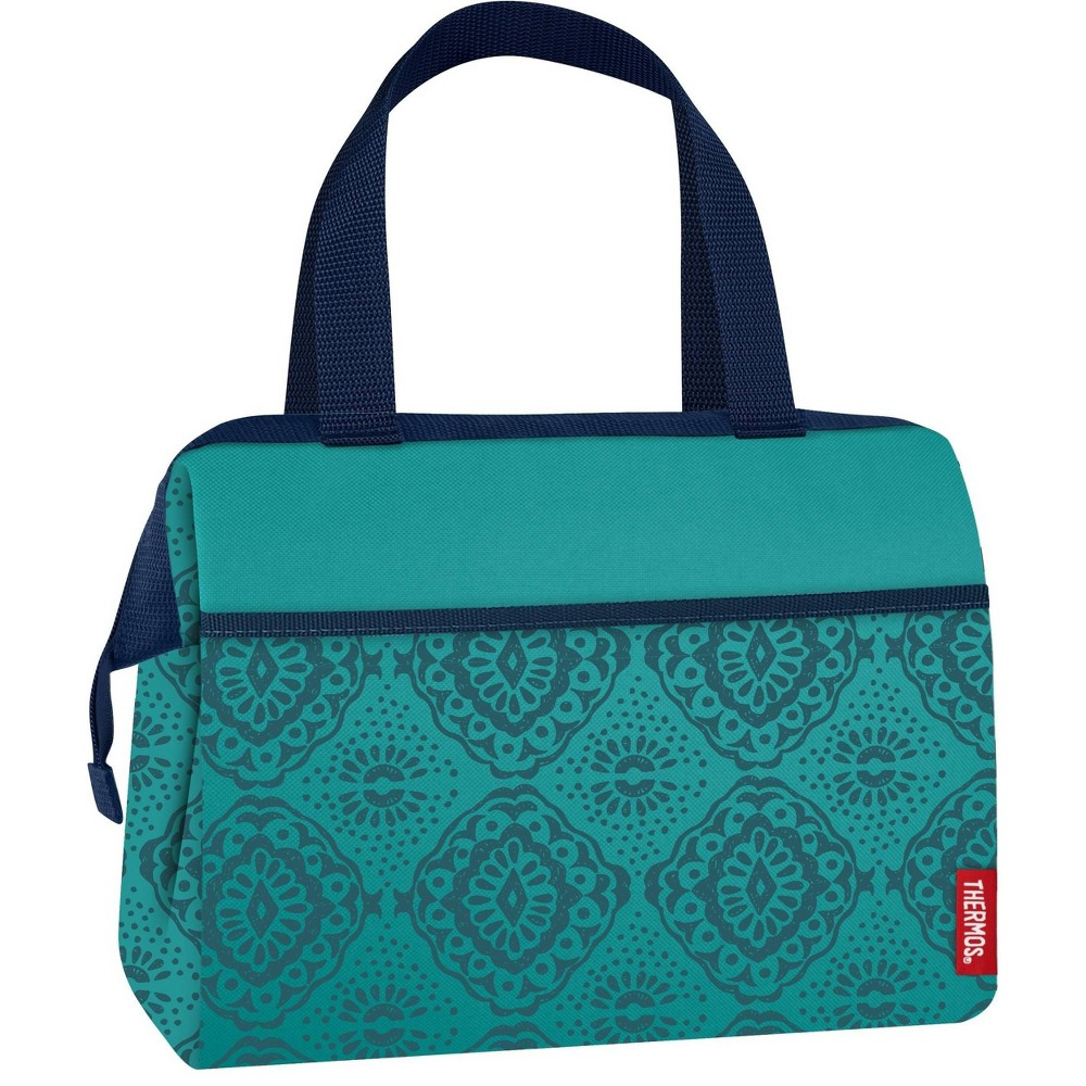 Image of Thermos Raya 9 Can Lunch Tote with Food Jar - Teal Moraccan