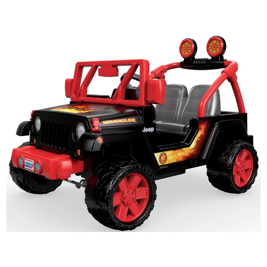 Power Wheels Tough Talking Jeep - Black/Red image number null
