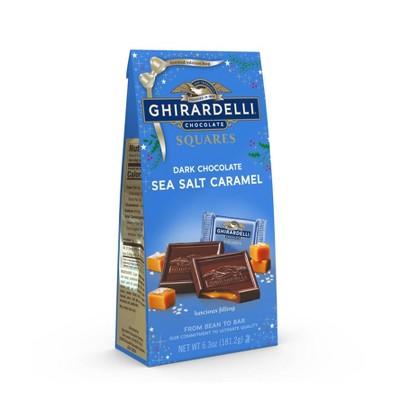 Ghirardelli Holiday Dark Sea Salt Caramel Squares Bag - 6.3oz