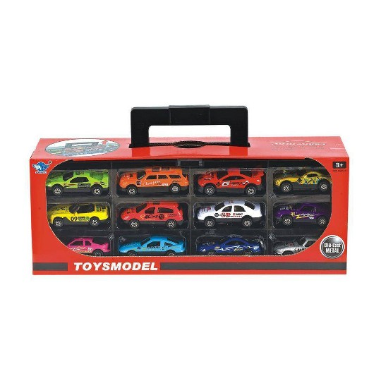 Lucky Toys 1:64 Scale Pull Back Car Set 12pc image number null