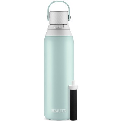 Brita 20oz Premium Double Wall Stainless Steel Insulated Filtered Water Bottle - Light Blue