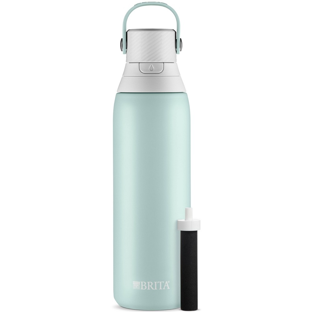 Image of Brita 20oz Premium Double Wall Stainless Steel Insulated Filtered Water Bottle - Blue