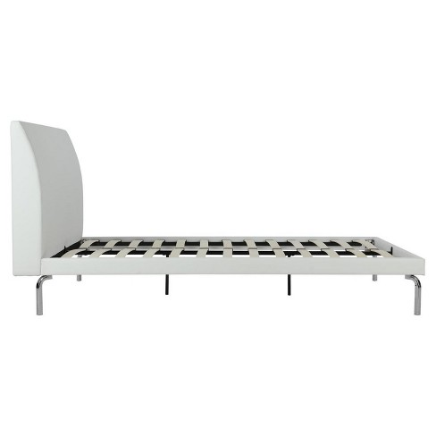 Wilshire Faux Leather And Chrome Bed (Queen)   White   Dorel Home