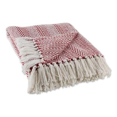 "50""x60"" Herringbone Striped Throw Blanket - Design Imports"