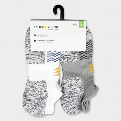 PowerSox Men's Wavy Toe Strategic Cushion No Show Socks - 6-12 - image 1 of 3
