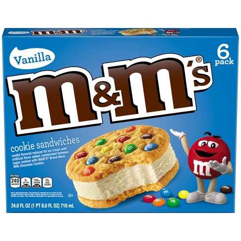 M&M's Ice Cream Cookies - 6ct - image 1 of 3