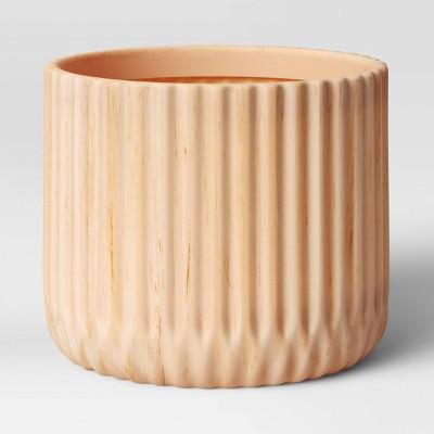 "10.25"" Indoor/Outdoor Faux Wood Planter Beige - Opalhouse™"