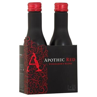 Apothic Red Blend Red Wine - 2pk/250ml Aluminum Bottles