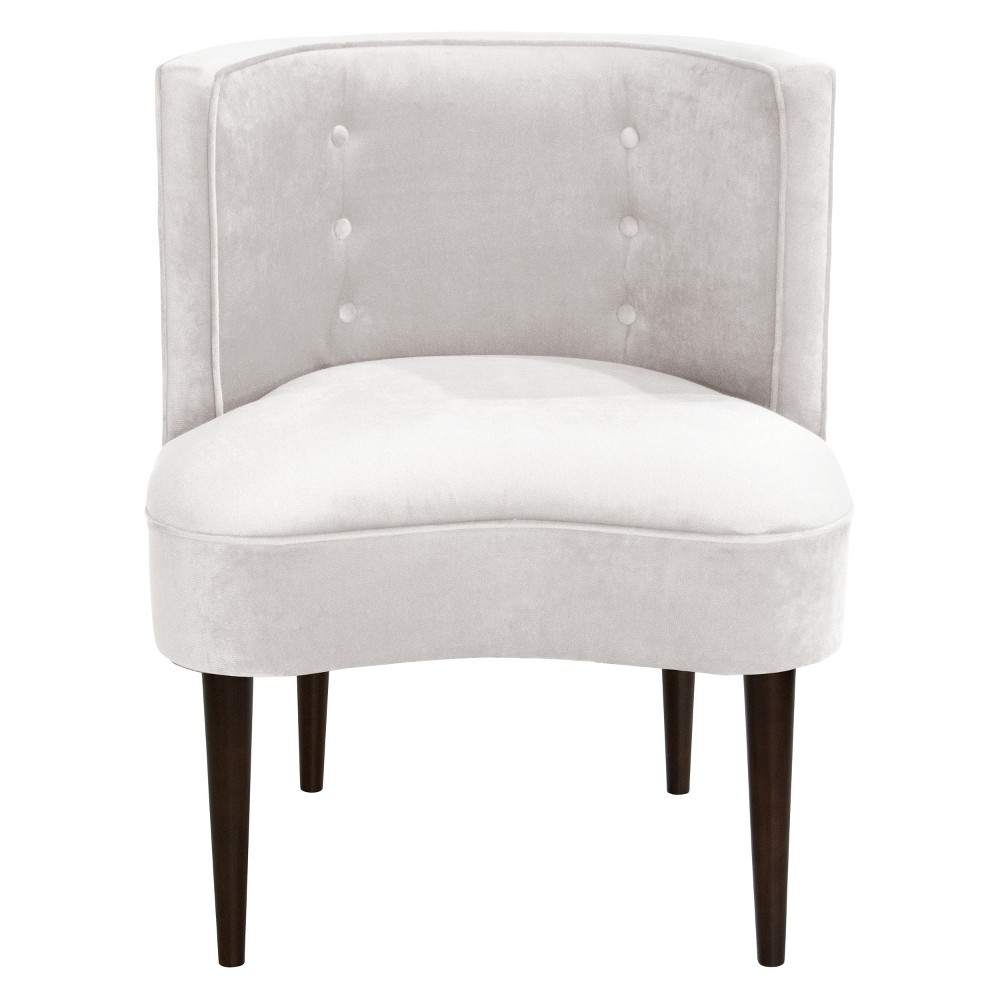 Clary Curved Back Accent Chair Mystere Snow - Opalhouse