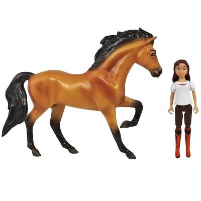 Breyer Animal Creations Breyer Spirit Riding Free Spirit & Lucky Small Horse & Doll Set