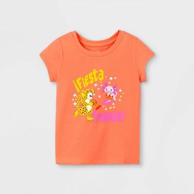 Toddler Girls' 'Fiesta Friends' Short Sleeve Graphic T-Shirt - Cat & Jack™ Orange