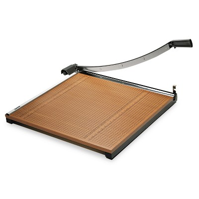 """X-Acto Square Commercial Grade Wood Base Guillotine Trimmer 20 Sheets 24"""" x 24"""" 26624"""