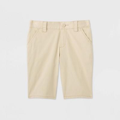 Girls' Flat Front Stretch Uniform Shorts - Cat & Jack™ Beige
