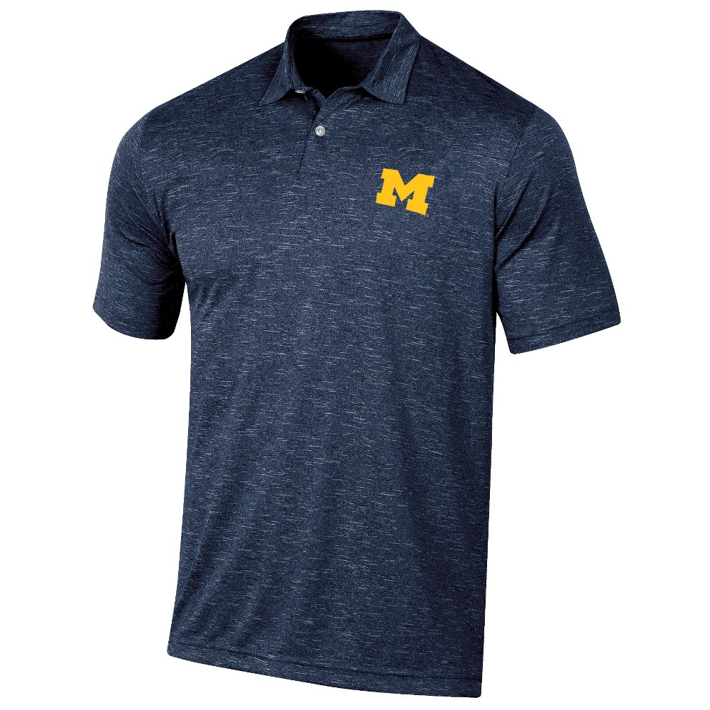 Michigan Wolverines Men's Short Sleeve Twisted Jersey Polo Shirt - XL, Multicolored