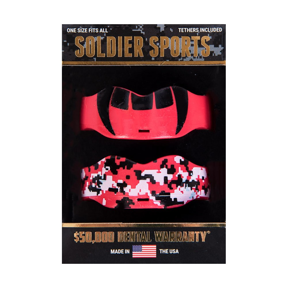 Soldier Sports Boil and Bite Mouthguards - 2pk - Red