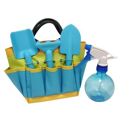 4pc Kids Gardening Set With Sprayer - Blue - Ray Padula
