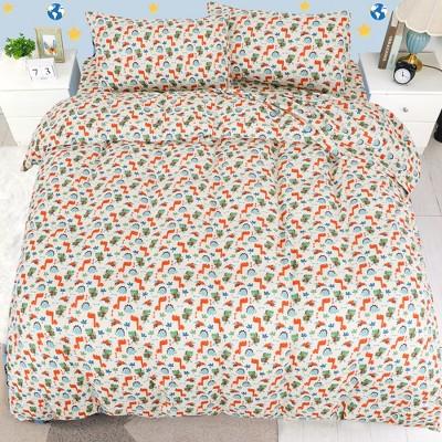 5 Pcs Polyester Microfiber Fabric Monster Pattern Soft Washable Duvet Cover Bedding Sets - PiccoCasa