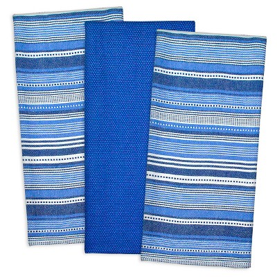 Urban Stripe Dishtowels Set Of 3 Nautical - Design Imports