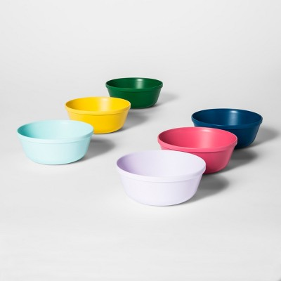 15.5oz 6pk Plastic Kids Bowls - Pillowfort™