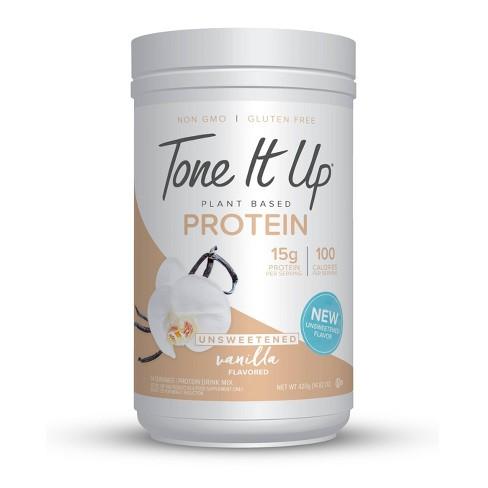 Tone It Up Plant Based Protein Powder -  Unsweetened Vanilla Bean - 14.32oz - image 1 of 2