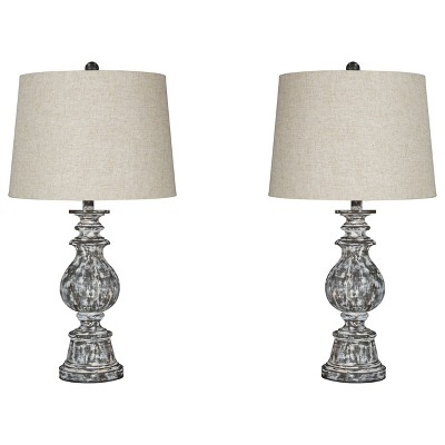Set of 2 Macawi Table Lamps Antique Brown - Signature Design by Ashley