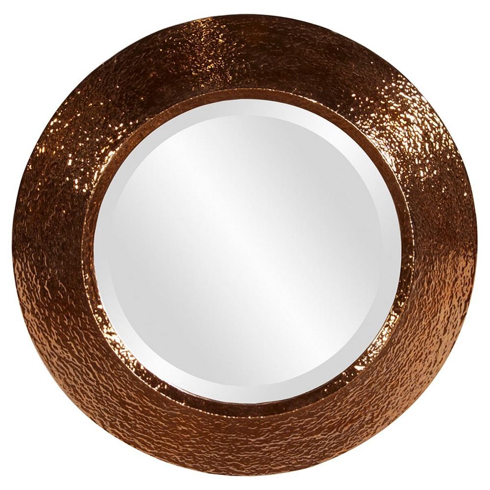 Round Nashville Decorative Wall Mirror Copper (Brown) - Howard Elliott