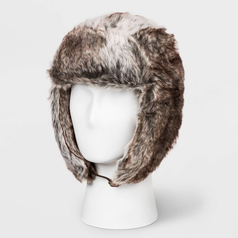 Men's Faux Fur Tapper Hat - Goodfellow & Co™ Brown One Size - image 1 of 1