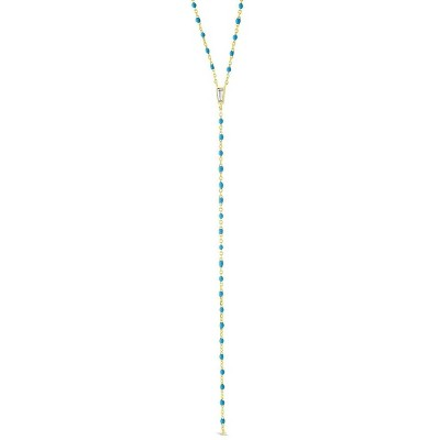 SHINE by Sterling Forever Sterling Silver Enamel Detailed Y Necklace