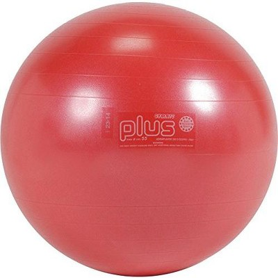 Gymnic Ball Plus 55 Fitness, Exercise and Therapy Ball - Red