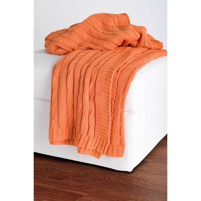 """50""""x60"""" Cable Knit Throw Blanket - Rizzy Home"""