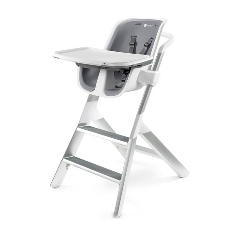 Strange 4Moms High Chair With Magnetic One Handed Tray Attachment White Gray Theyellowbook Wood Chair Design Ideas Theyellowbookinfo