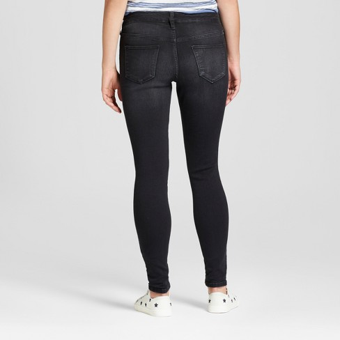 3a3a5942211 Women s Mid-Rise Skinny Jeans - Universal Thread™ Black   Target
