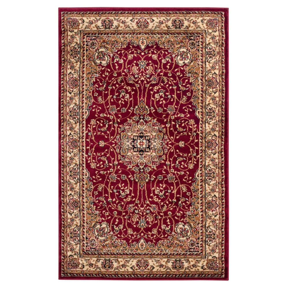 Red Ivory Floral Loomed Area Rug 8 X11 Safavieh