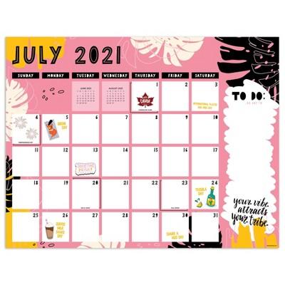 2021-22 Academic Desktop Calendar Girlfriends Monthly - The Time Factory