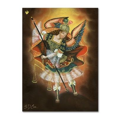 """35"""" x 47"""" Angel Gabriel by Masters Fine Art - Trademark Fine Art"""