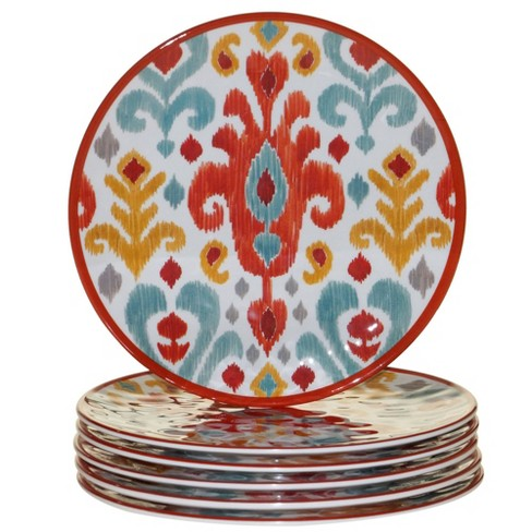 "9"" 6pk Melamine Bali Salad Plates - Certified International - image 1 of 1"