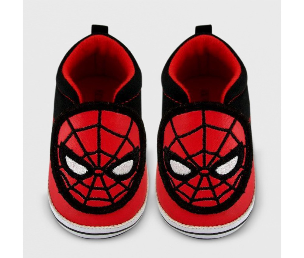 Image of Baby Boys' Spider-Man Crib Shoes - Red 3-6M, Black Red