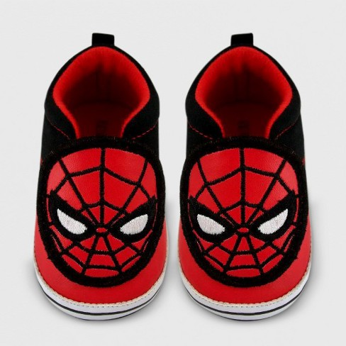 Baby Boys' Spider-Man Crib Shoes - Red - image 1 of 1