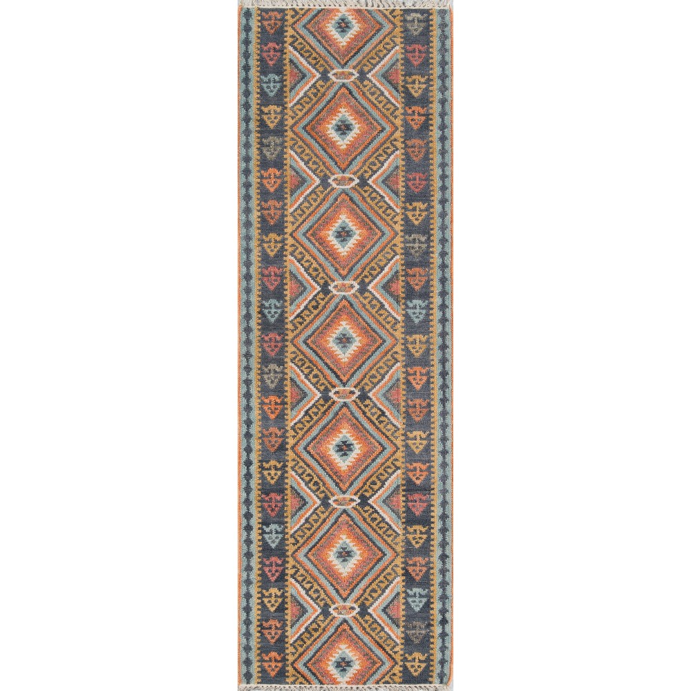 2'3X8' Geometric Woven Runner - Momeni, Multicolored