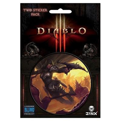 "JINX Inc. Diablo III 3"" Round Sticker 2-Pack: Demon Hunter Class"