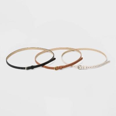 Women's 3pk Laser Cut Belt - Universal Thread™
