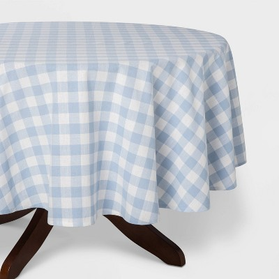 "70""R Check Tablecloth Blue - Threshold™"