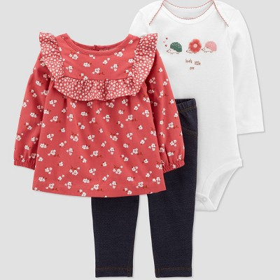 Baby Girls' Floral 'Beauty Rose' Top & Bottom Set - Just One You® made by carter's Pink 3M